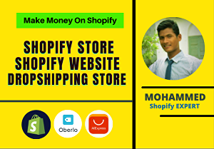 I will create Shopify dropshipping store website