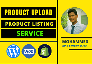 I will Upload Products on your Ecommerce website
