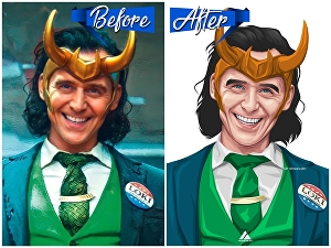 I will draw awesome vector portrait from your photo
