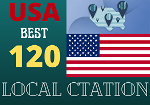 I will create 120 USA local citations for local rank