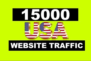 I will drive keyword targeted, organic 15000 traffic from USA