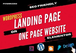 I will make attractive landing page WordPress website with elementor