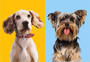 I will draw your pet illustration into a vector art cartoon