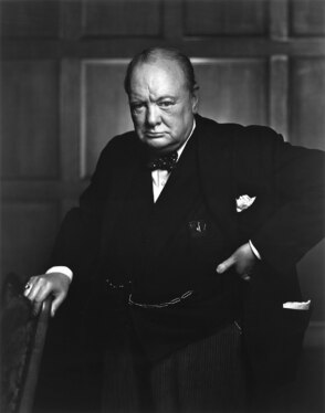 record a voice over in the style of Sir Winston Churchill
