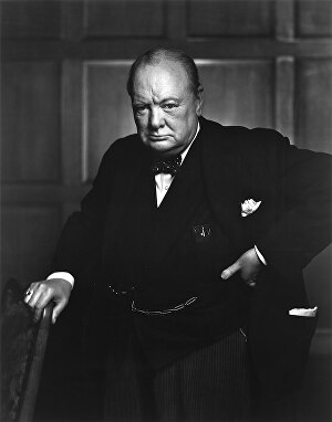 I will record a voice over in the style of Sir Winston Churchill