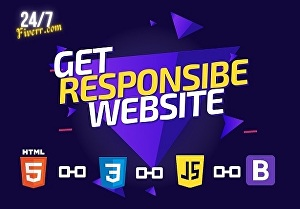 I will create a responsive website with HTML, CSS, and bootstrap