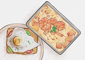 I will make an amazing food and drink watercolor illustration