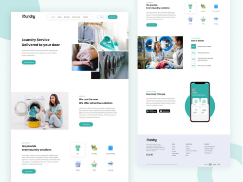 create a clean and modern landing page design