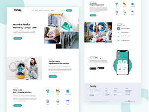 I will create a clean and modern landing page design