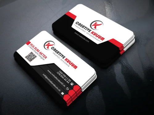 design business card and brand identity