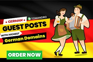 I will publish a german guest post on highest Deutschland domains