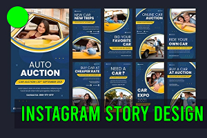 I will do stunning facebook or instagram post story, thumbnails and ads design