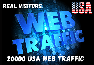 I will give 20000 USA targeted website traffic
