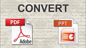 I will convert PDF to powerpoint document