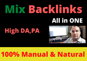I will create Manual 80 high authority mix backlink by white hat method high da link building