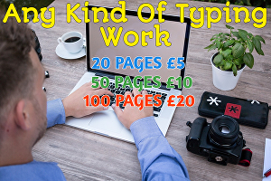 I will do a professional and fast typing job as your virtual typist