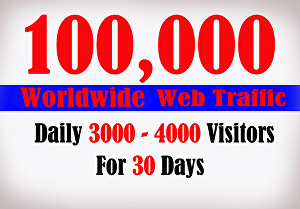 I will Send 100 000 Web Traffic for 30 Days