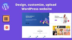 I will Design or redesign, customize, rebuild, update WordPress website for your business