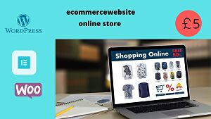 I will Design ecommerce website and online store