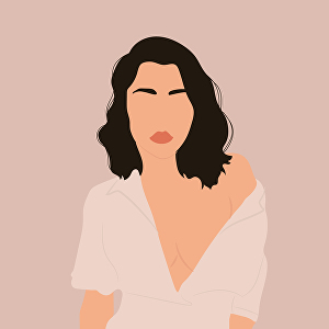I will create minimalist vector illustration, portrait from your photo