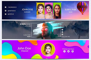 I will Design YouTube channel banner in any Niche