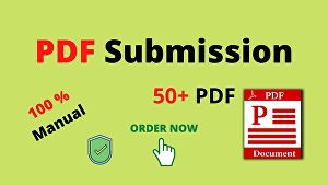 I will do PDF submission on top-rated doc file sharing sites