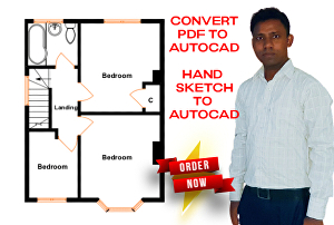 I will draw architectural floor plan, elevation, section, electrical plan & plumbing plan