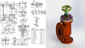 I will do 3D CAD modeling of product in solidworks and rendering of the product for 3D printing