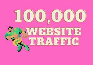 I will drive up to 100,000 organic, keyword targeted traffic to your website