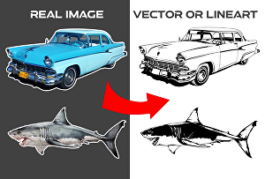 I will convert images into vector or line art