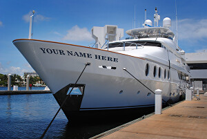 I will write your name on a yacht