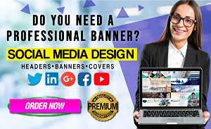 I will design a professional linkedin banner facebook or twitter cover