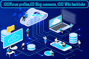I will Provide You 1000Forum profiles,100 Blog comments, 1000 Wiki backlinks