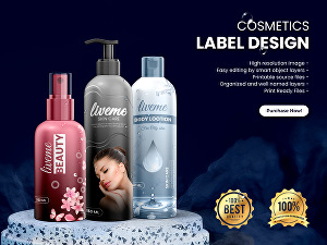 I will design pixel perfect cosmetics beauty products label and packaging design
