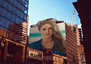 I will put your logo or photo in 10 street graffiti and billboard for fun or craigslist