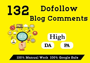 I will Create 132 Manual DoFollow seo Blog Comments Backlinks pr2 to pr5