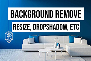 I will do Products Background Clean, Scale, Dropshadow, Photoshop work, Etc