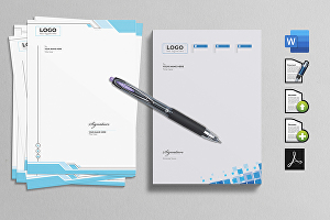 I will design letterhead in editable word for your business