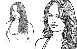 I will make line art drawing black and white your photos