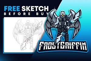 I will design cartoon character or mascot logo  for esports, gaming, twitch, youtube