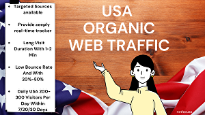 I will  drive daily  USA  Real and  Organic Web Traffic for one month on your site