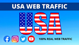 I will send 300,000 Real USA Targeted Website Traffic Visitors over 30 days
