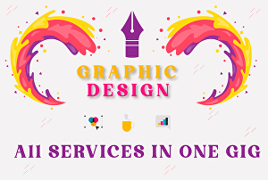 I will do any graphic designing tasks for you professionally