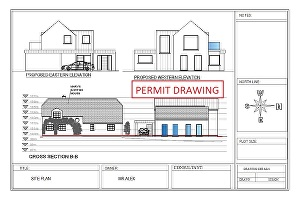 I will draw architectural floorplan or blueprint for house permit
