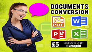 I will Convert PDF to Word, Excel, PowerPoint