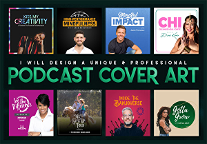 I will design a professional podcast cover art for you