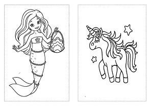 I will create amazing coloring book pages for kids and adults