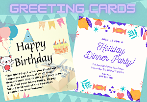I will design beautiful greeting cards, birthday cards, invitation cards