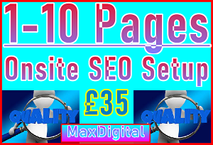 I will Setup Maximum 10 Pages with Onsite SEO Importance