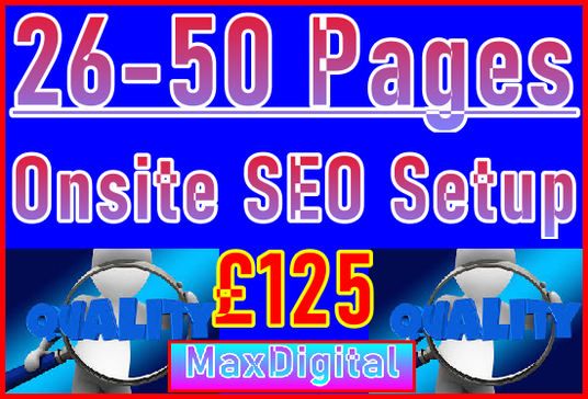 Setup Maximum 50 Pages with Onsite SEO Imortance